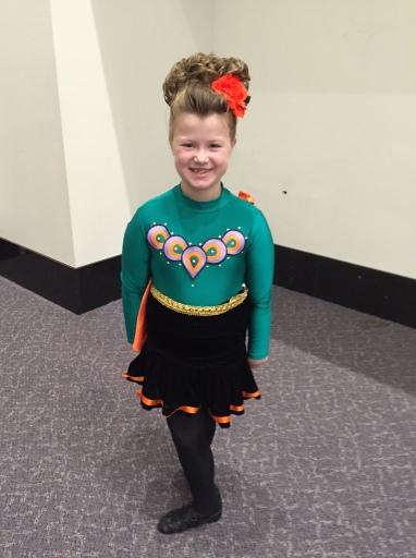 Addie ready to dance!