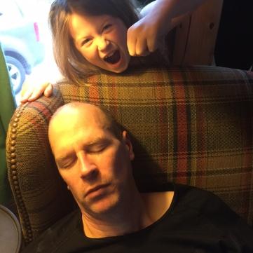 No Turkey yet, but a man still deserves a nap at Rangeley!